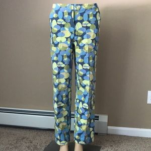 Talbots colorful stretch ankle pants Sz 10